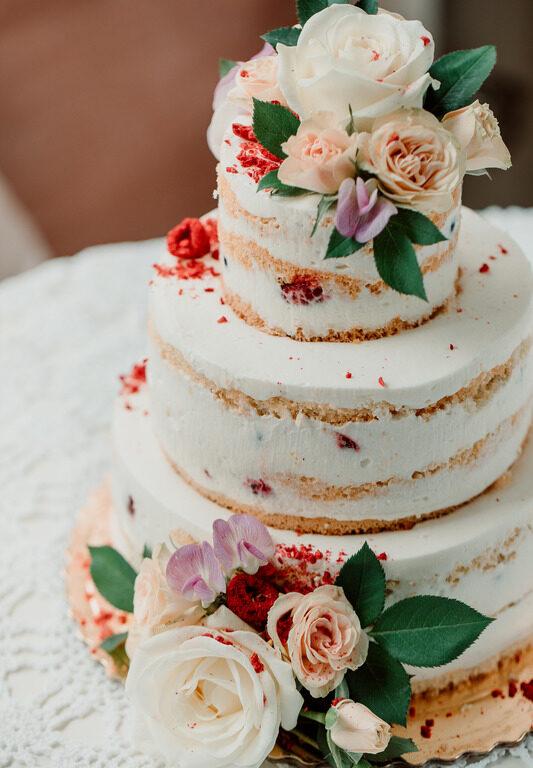 Tort migdałowy z mascarpone - piętrowy